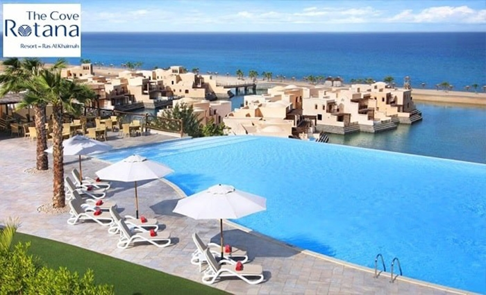 5* Cove Rotana Ras Al Khaimah Hotel Stay with Breakfast or Half-Board or All-Inclusive.