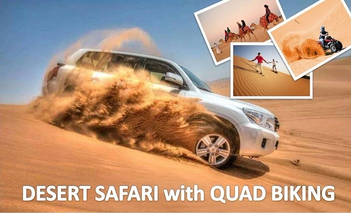 Desert Safari Adventure with Dune Drive, Live Shows, Camel Ride, BBQ, Sand Board, Quad Biking (optional) & more by Emirates Night Tours.