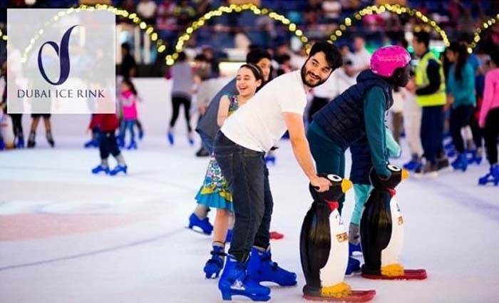 General Admission at Dubai Ice Rink – Skate Hire free Included.