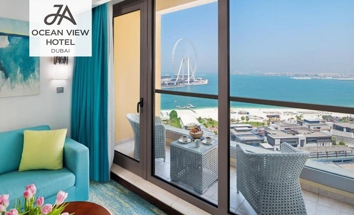 5* JA Ocean View Hotel Family Stay with Breakfast.
