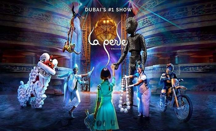 La Perle by Dragone Dubai: Experience a new era of entertainment with aquatic Laperle theater show with Free Popcorn and Soda.