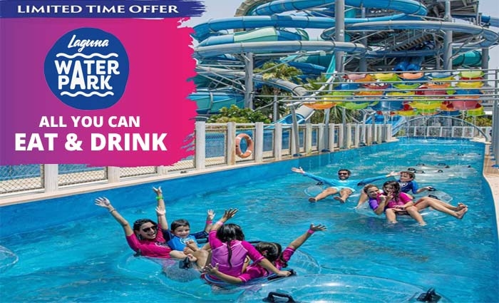 Laguna Water Park Tickets with Full Day All You Can Eat & Drink.