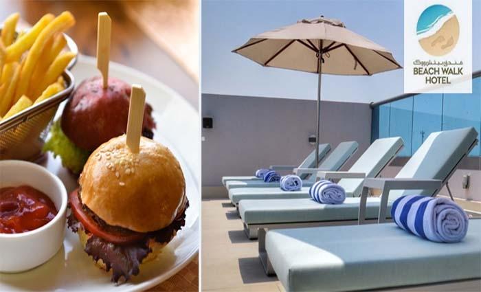 Lunch or Dinner Set Menu + Pool Access at Beach Walk Hotel