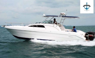 34 Ft. Silver Craft boat tour with optional sea activities from Conwy Leisure Yacht, starting at AED 75