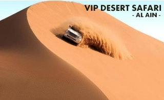 VIP Al Ain Desert Safari with 4x4 pickup & drop-off plus Buffet Dinner, Entertainment and more from Multi Travel and Tourism.