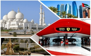 Abu Dhabi City Tour + Ferrari World Theme Park Entry Ticket for AED 330.