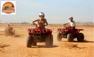 An Adventurous Quad Bike Experience with Al Tamayuoz Motorcycles Rental, starting at AED 65.