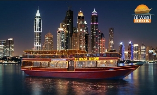 2 hours dhow cruise in Dubai Marina with a 4* International buffet from AWD Floating Restaurant from only AED 99