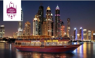 4-star Iftar on a Traditional Dhow Cruise along Dubai Marina from Al Wasl Dhow Floating Restaurant.