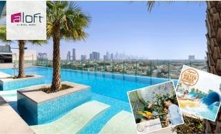 4* Aloft Al Mina Dubai Stay with Access to Laguna Water Park or Green Planet Or Dubai Parks.