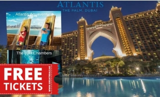 5* Atlantis The Palm One-Night stay with Half Board and Enjoy unlimited access to Aquaventure and The Lost Chambers.