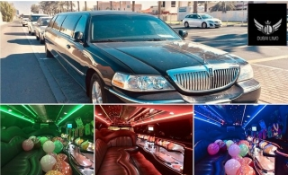 1 or 2-Hour Limousine Ride with Stretch Black Lincoln Limousine 10-Seater inclusive of soft drinks, water, ice & glass, starting from AED 299 by Dubai Limo.