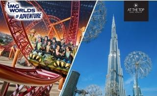 Combo: Burj Khalifa with The Café Treat + IMG Worlds of Adventure Tickets.