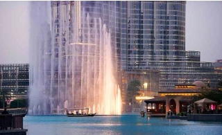 Dubai Fountain Traditional Abra Lake boat Ride