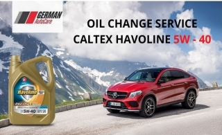 Caltex Havoline Oil and Filter Change, starting from AED 199 by German Auto Care.