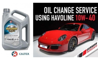 Oil Change Coupons & Vouchers, Jumpstart your car with Caltex Havoline (10W-40, 10000KM) Oil & filter change and servicing package from German Auto Care from AED189