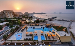 One-Night for 1 or 2-Bedroom Apartment Stay with Sea View or City View at City Stay Beach Hotel Apartment RAK. Inclusive of meal choices!