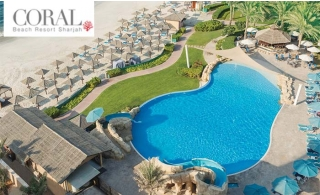 4* Coral Beach Resort Sharjah 1 Night For 2 Adults And 2 Children With Breakfast Or Half Board.