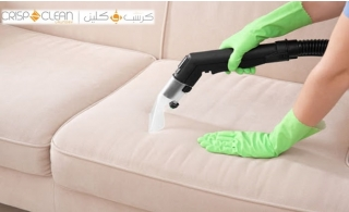 Sofas of up to four seaters steam or foam cleaning service available at two Dubai locations from Crisp N Clean Laundry.