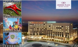 1-3 Nights Stay At Crowne Plaza Abu Dhabi - Yas Island with Breakfast includes Ferrari World, Yas Water World Or Warner Bros Tickets.