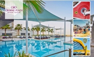 4* Crowne Plaza Yas Island Hotel with Breakfast and Parks Access