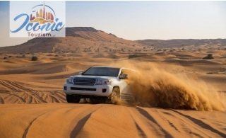 Experience a fabulous desert escapade with dune bashing, BBQ dinner, fire show and 6 more Live entertainments by Iconic Tourism from AED 59 only! Transportation included.