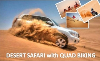 Desert Safari Adventure with Dune Drive, Live Shows, Camel Ride, BBQ, Sand Board, Quad Biking (optional) & more, starting at AED 59 from Emirates Night Tours.