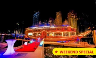 5 Stars Marina Dhow Cruise with Buffet Dinner from AED 75