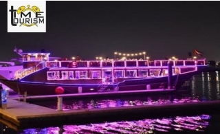 VIP 2-Hour Dhow Cruise Creek with Dinner & Entertainment from Time Tourism.