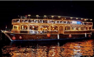 120-Minutes Cruise at Creek on Arabian Traditional Dhow with International Dinner Buffet.