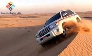 4x4 Private Pickup and Drop off for a Red Dune Desert Safari from Innovation Tourism.
