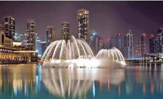 The Dubai Fountain Boardwalk Entry ticket for AED 19 only.