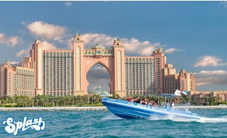 Enjoy the 90-Minute speedboat tour and see iconic Dubai spots in a thrilling way from AED 99 by Splash Tours.