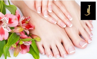 Classic or Gelish Nails + Eyebrow Threading at Joseph Dimerji Beauty Salon from AED 59.