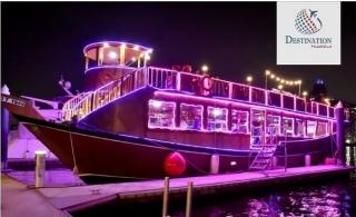2.5-Hour Dubai Water Canal Cruise with Buffet Dinner from Destination Middleeast.