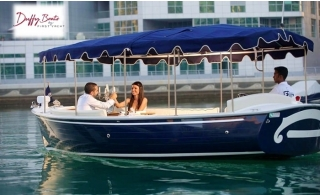 Exclusive Duffy Boat Ride for 10 pax at Al Seef Dubai Creek from Water Sports By First Yacht, starting at AED 189