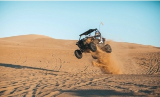Dune Buggy Ride + Evening or Morning Desert Safari for 2pax with 4x4 Home Pickup and Drop off from AED 849 by Emirates Night Tours.