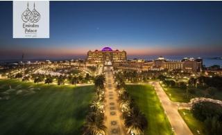 5* Emirates Palace Abu Dhabi One-Night Stay with Breakfast.
