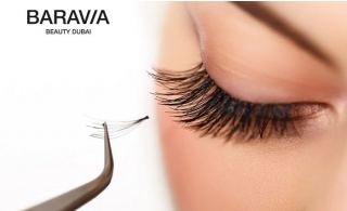 Flutter your eyelashes gracefully after having a Full set of eyelash extensions from Baravia Beauty Center from AED 169.