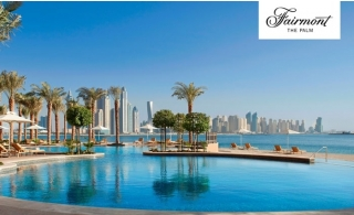 5* Fairmont The Palm Hotel Stay with Half Board.