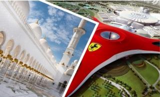 Abu Dhabi City Tour + Ferrari World Theme Park Entry Ticket for AED 330.