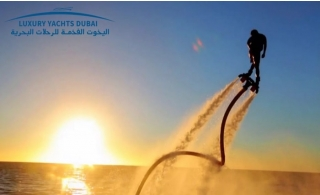 An exciting Flyboard Experience from Luxury Yachts Rental, from AED 189.