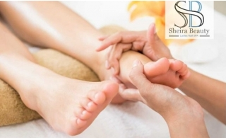 A soothing Foot Reflexology w/o Classic Pedicure at Sheira Beauty & Ladies Nail Spa, starting at AED 49
