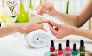 Perfect Classic or Gelish nail packages at Socrates Beauty Lounge, starting at AED 79.