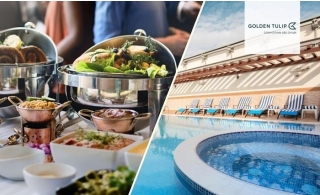 Golden Tulip Downtown Abu Dhabi Buffet and Pool Access.