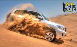 Desert Safari with 4x4 Home pick up and drop-off for AED 70 by Time Tourism.