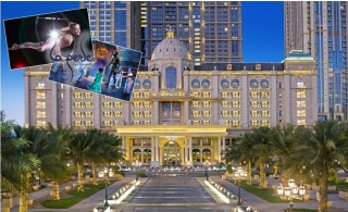Dubai Summer Surprise: 5* Habtoor Palace Dubai One-Night Stay for Two Adults plus Two Tickets La Perle Show with Two Sodas and Two Popcorns from AED 438.