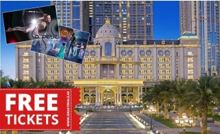 5* V Hotel Dubai by Hilton Laperle Package 1 Night Stay for Two Adults plus Two Tickets La Perle Show