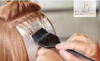 Root color, Full Color, Highlights & Hair Treatment from Le Coiffeur Salon, starting at AED 99.