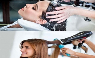 Hair Wash + Blowdry + Style for only AED 9 - Hazel Hair & Beauty Salon Karama